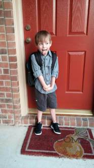 Ian's 1st day of school