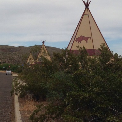 This was a nice little TeePee rest stop that we found on our way to our destination for our last night in West Texas (Terlingua) from Presidio. I also saw these with Caleb's family canoe trip.