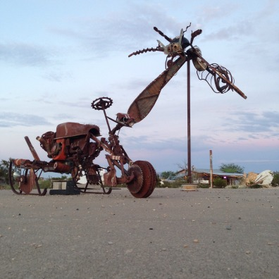 Part of the art in Terlingua. This town is less populated than Marfa (despite what Caleb might believe, it is possible).