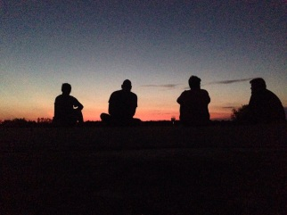 Look at that crew to sunset silhouette.